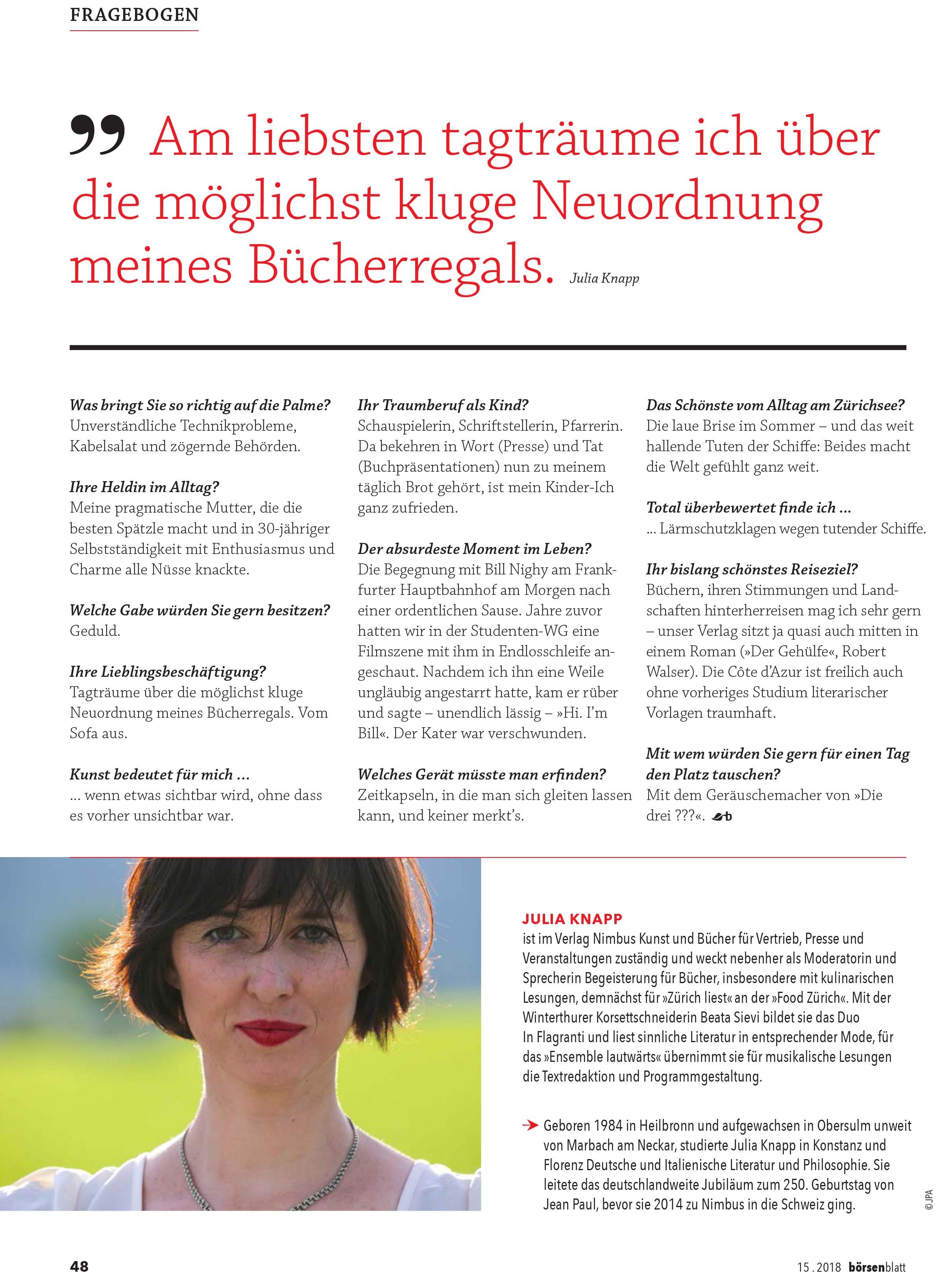 über Mich Julia Knapp
