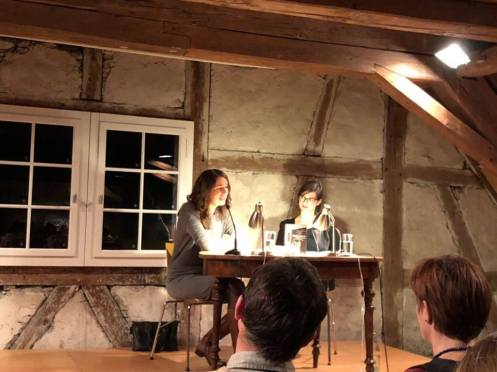 Moderation einer Lesung mit der Autorin Iris Wolff im Literaturhaus Gottlieben